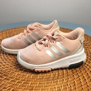 Adidas pink toddler shoes Size 5